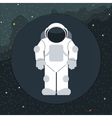 Digital with astronaut in space icon vector image vector image