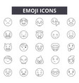 emoji line icons signs set outline vector image vector image