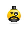 emoji smile icon symbol smiley face with monocle vector image vector image