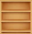 empty wooden bookshelves vector image vector image