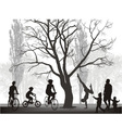 Families spend a weekend in the countryside vector image vector image