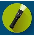 Flashlight icon Flat design style vector image vector image