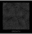 generative branch growth pattern square vector image