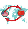 global trading the united states and china vector image