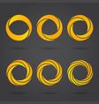golden zeros segmented logo signs vector image vector image
