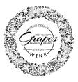 grapes design for wine menu vector image vector image
