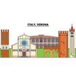 italy verona city skyline architecture vector image vector image