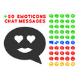 lady love smiley message icon with bonus emotion vector image vector image