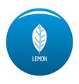 lemon leaf icon blue vector image