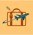 logo plane and travel vector image vector image