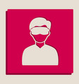 man with sleeping mask sign grayscale vector image vector image