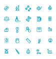 measuring related web icon set vector image