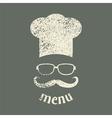 menu vintage vector image vector image