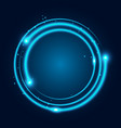 neon glowing techno lines vector image vector image