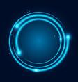 neon glowing techno lines vector image