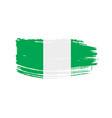 nigeria flag vector image vector image
