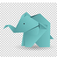 origami elephant icon cartoon vector image