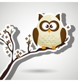 owl white tree leaves white
