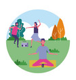 people at park in summer vector image
