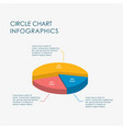 Pie chart circle chart infographics elements 3d