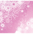 pink snowflake background vector image vector image