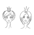 Princess Sketches style vector image vector image