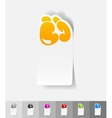 realistic design element boxing gloves vector image vector image