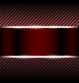 red carbon background with banner vector image vector image