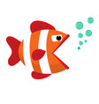 ribbon cartoon fish flat icon vector image