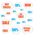 Sale label stickers vector image