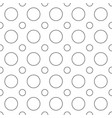 seamless black and white circle pattern vector image vector image