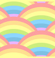 seamless pattern with rainbow vector image