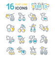 set line icons berries vector image vector image