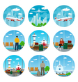 Set of Airport Icons vector image vector image