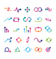 set of arrows for infographics vector image