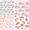 set rose pattern vector image vector image