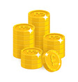 stack gold pounds isolated cartoon vector image vector image
