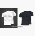 stock white and black womens t shirt realistic vector image vector image