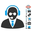 Support Manager Icon With Free Bonus vector image vector image