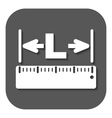 The length icon Longitude yardage lgth symbol vector image