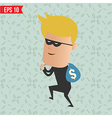 Thief steal money for computer security concept - vector image vector image