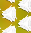 White banana shapes on white and mesh seamless vector image