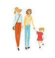 young friends moms walking together with their vector image