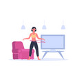 young woman in sportswear doing fitness exercise vector image vector image