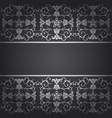 black background baroque with flowers vector image
