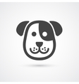 Cute dog icon element for design vector image