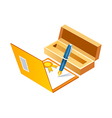 icon signiture vector image
