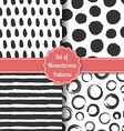 Set of four watercolor stylish patterns vector image