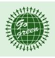 Go green logo circle template vector image