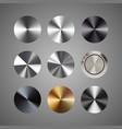 metal conical gradients button set vector image